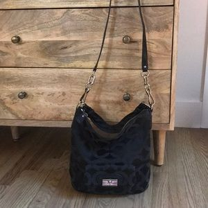 Black hobo crossbody Coach handbag